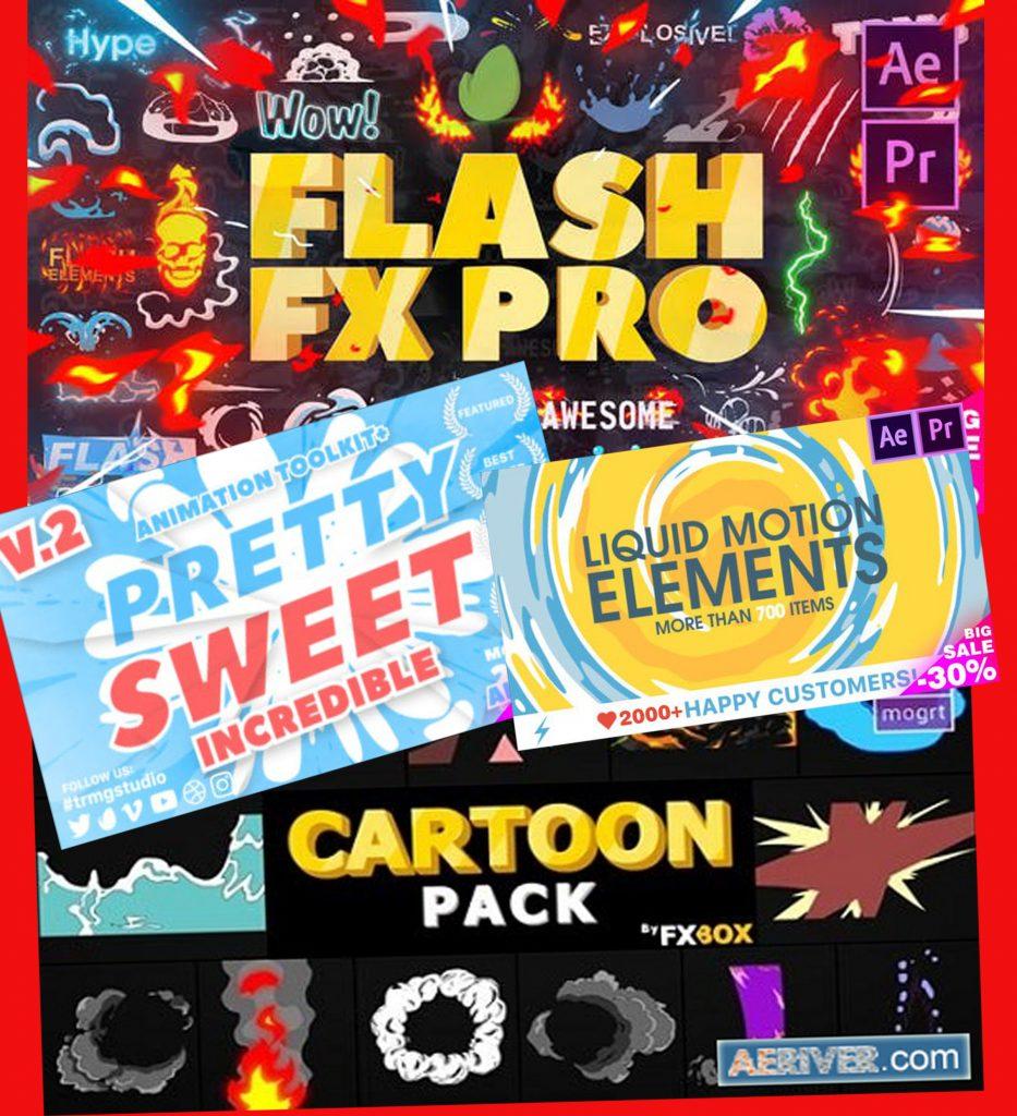 Download Cartoon Elements Mega Pack | Premiere Pro 3 in 1 ...